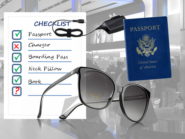 Airport Travel Check List